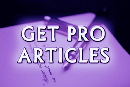 I will write SEO improved articles for you, website content