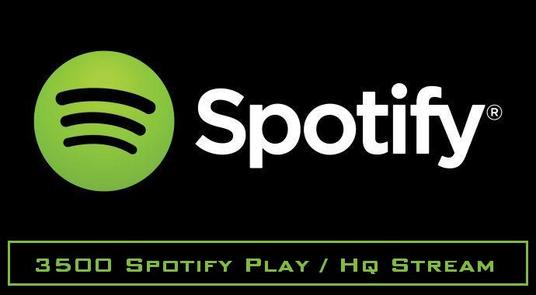 I will Provide Spotify 3500 Play / Hq stream