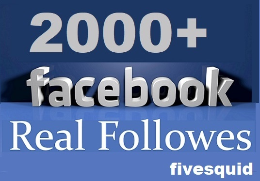 I will add Real 2000+ Facebook Followers