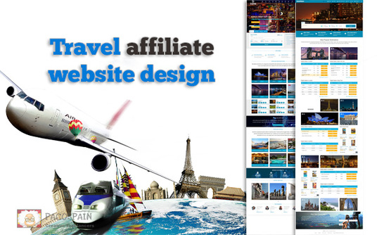I will create Travel affiliate website design