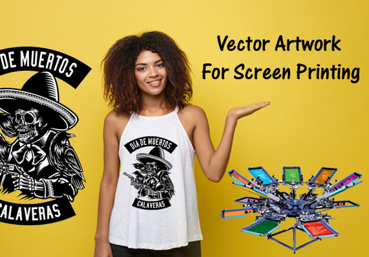 I will do  Vector Artwork And Color Separation For Screen Printing, T-Shirts & Merchandis