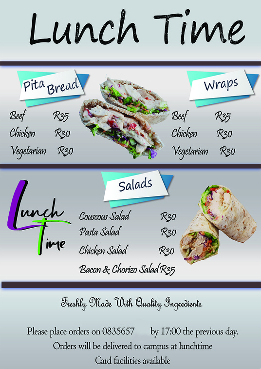 I will design Menus, Labels, Posters, Flyers, Business Cards