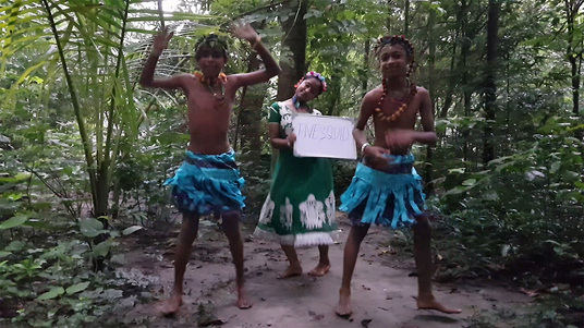 get jungle boys to Read and hold your sign in the jungle