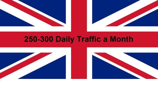I will provide 250-300 daily UK traffic for one month