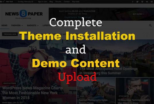 I will setup WordPress themes same as demo quickly