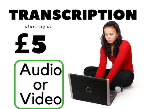 I will transcribe 20 minutes of audio and video file for you