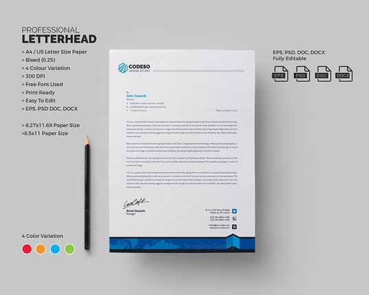I will design letterhead for you