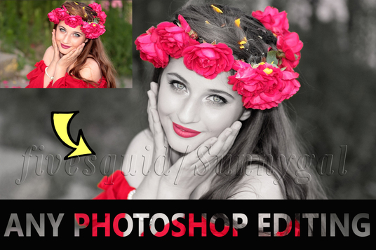 I will Photoshop edit any image quickly