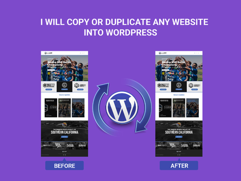 clone, copy or duplicate any website into Wordpress