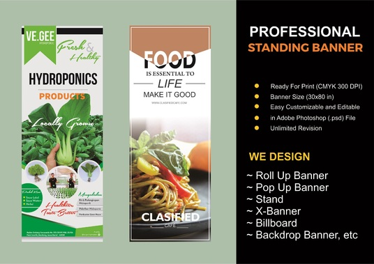 I will Design Amazing Roll Up Standing Banner