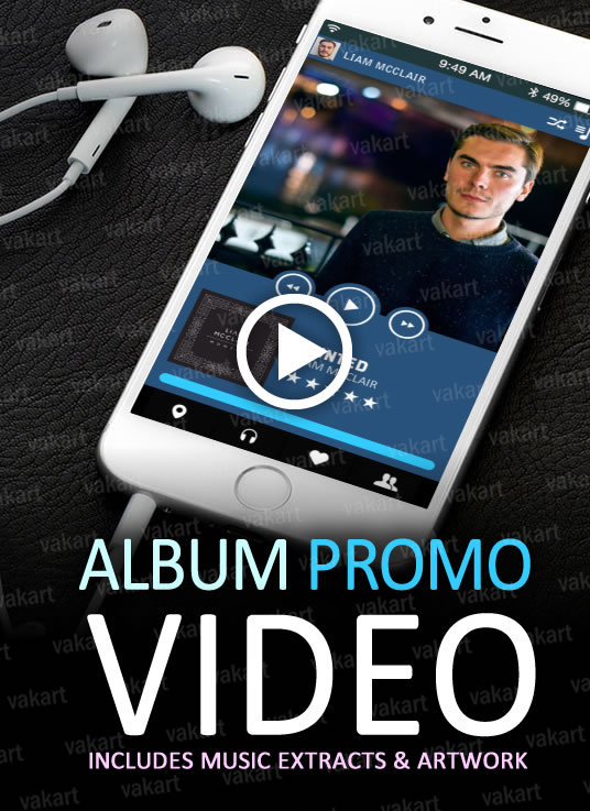 I will make a Promo Video Commercial for your Album, CD or EP or music production