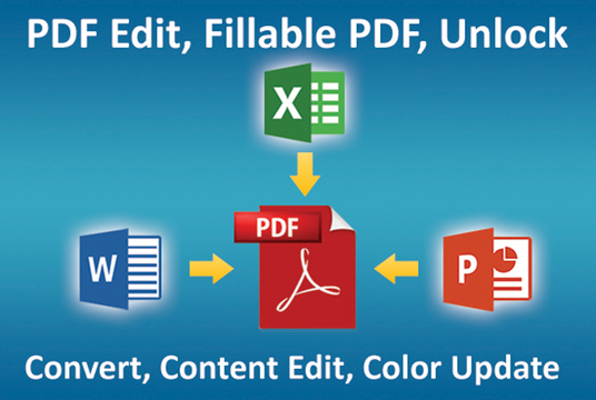 I will edit or convert or recreate pdf