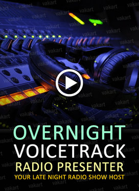 record a presenter voicetrack for your overnight radio service
