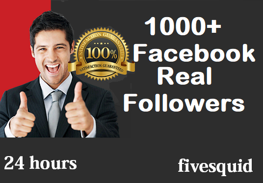 I will Add 1,000+ Facebook real Followers