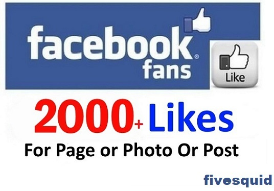 I will Add 2000+ Real FACEBOOK Likes