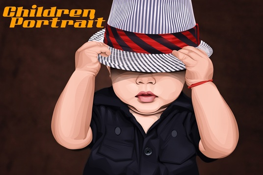 I will Draw A Cartoon Portrait of your Childrens