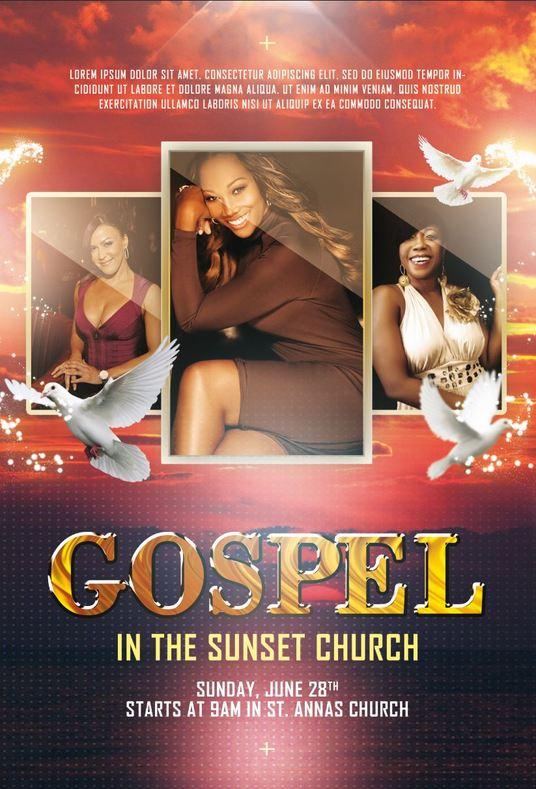 I will design a flyer, poster, brochure for your church or community