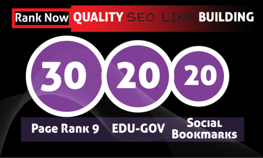 I will Create 30 PR9 + 20 EDU- GOV + 20 HIGH PR SOCIAL BOOKMARKS