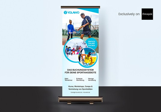 I will Design Roll Up Banner Design in 24 Hours