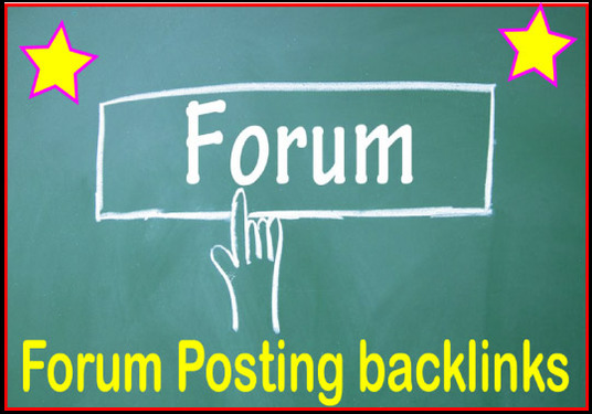 I will Give 2000 Forum Posting Backlinks