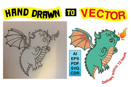 I will Trace Your Logo Image or Hand Drawing Into Vector