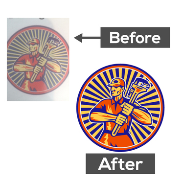 do vector tracing or redesign your logo