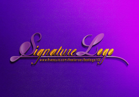 I will Design A Signature Logo Handwritten Or Text