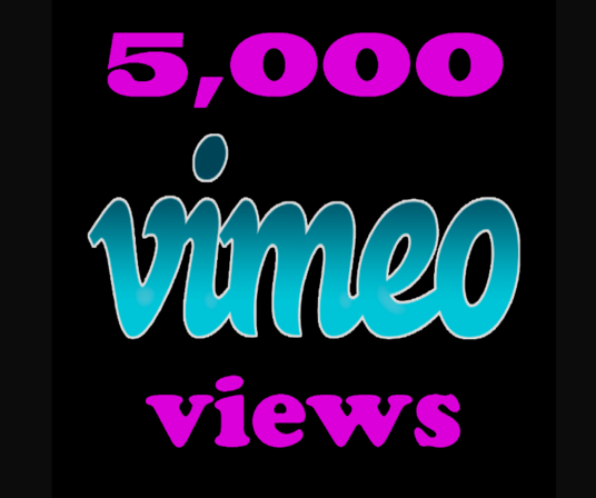I will Provide 5000 Vimeo Views in under 24 hours