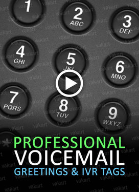record a 50 word voice greeting message for your telephone or IVR system
