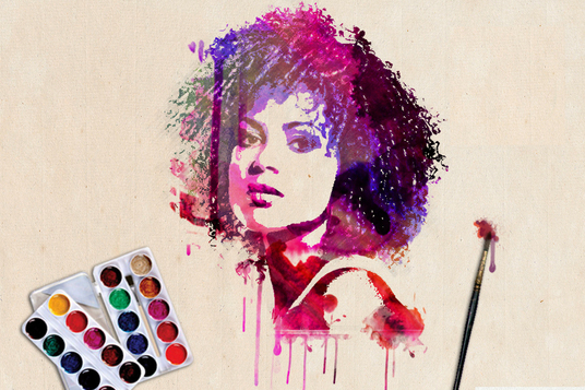 make your photo into watercolor style