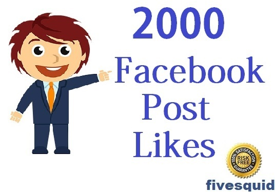 I will provide 2000 facebook post likes