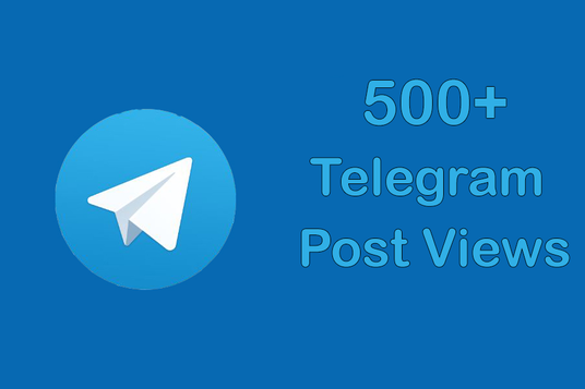 I will Add 500 Real High-Quality Telegram Post views