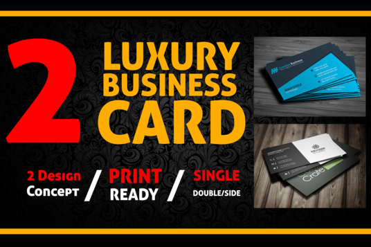 I will Create 2 Luxury Business Card Designs