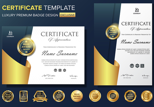 I will make awesome professional Certificate design