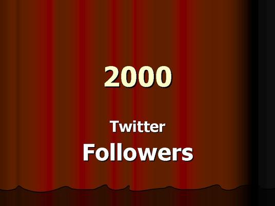 I will provide you 1500 twitter followers