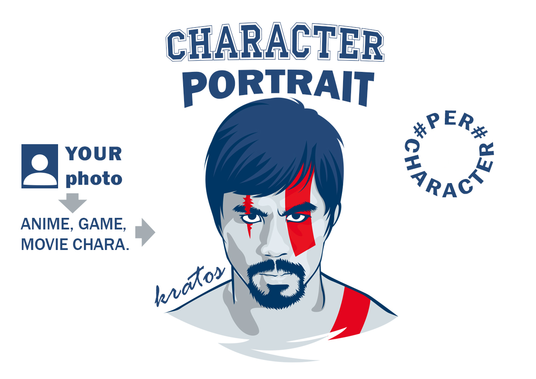 I will turn your portrait photo into your favourite hero