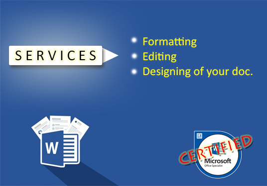 I will Edit Format Or Design Your Word Doc Professionally