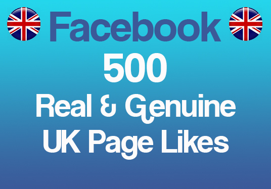 I will add 500 Real and Genuine Page Likes to your Facebook Page