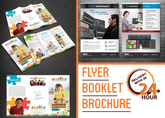I will Do Flyer,Brochure, Booklet Design