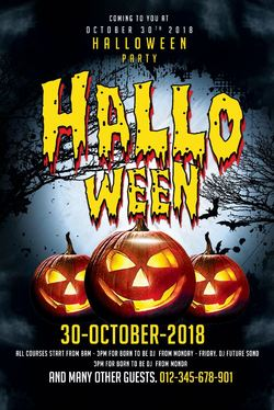 design your flyer or poster for halloween