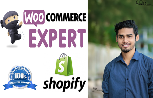 I will design wordpress ecommerce website by woocommerce