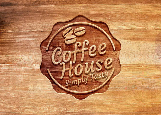 I will design a wooden logo