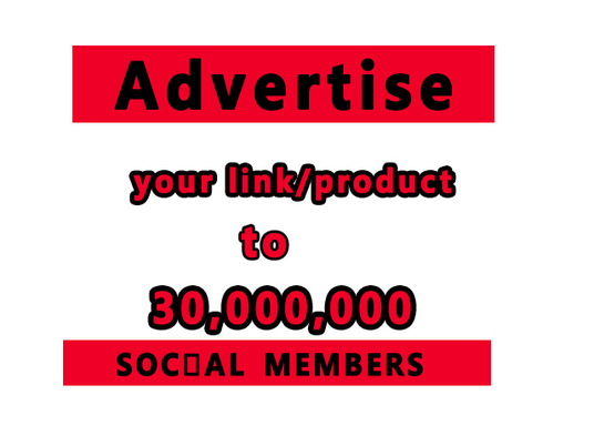 I will promote your link to 30 millions real and social members