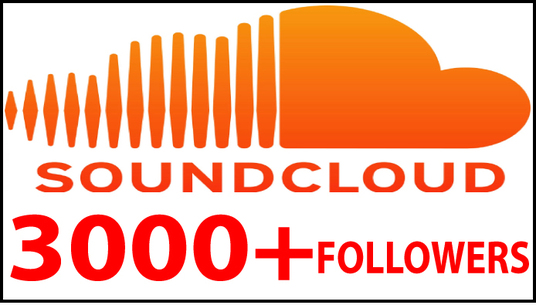 I will do 3000+ soundcloud follower