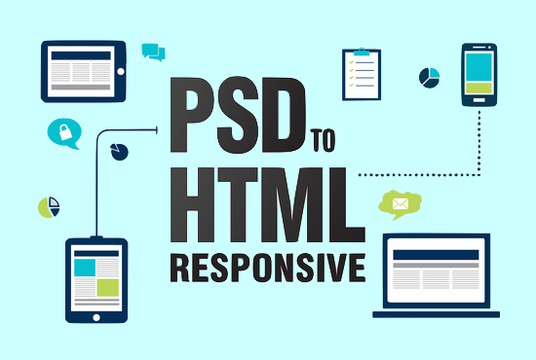 I will Convert PSD To HTML Responsive with Bootstrap 4