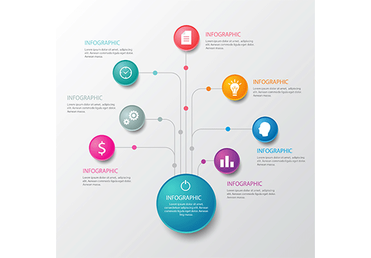 create professional design infographic