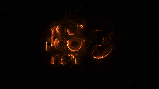 Make Cinematic Fire Flame Intro with Your Logo