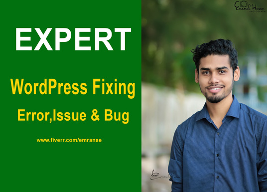 I will fix wordpress issue or fix wordpress error,fix any error