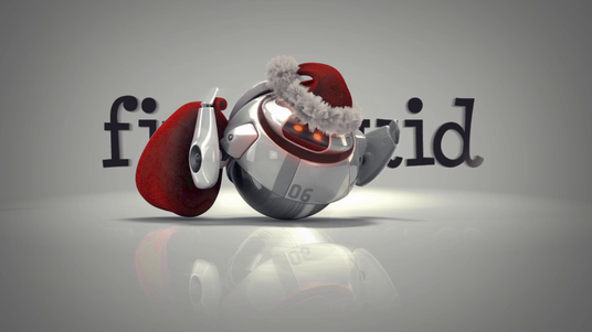 do a stunning 3d robotic christmas video hd