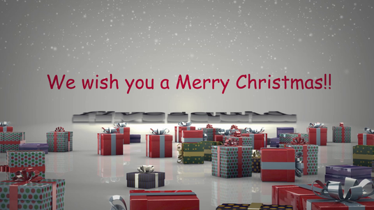 cccccc-do a stunning 3d robotic christmas video hd